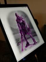 Tableta grafică folosită pentru imprimarea stencil-ului